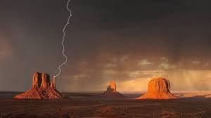 Lightning while hiking in Moab Utah